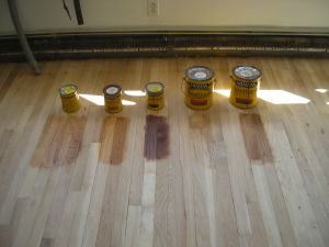 Mark's Master Service wood floor staining in Burlington