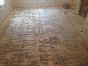wood floor refinishing and stain job in North Andover, MA