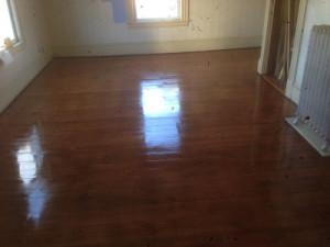 wood flooring, wood floor refinishing and wood floor stain job in North Andover, MA