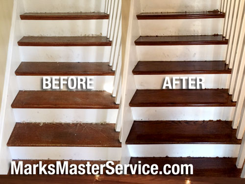 Wood Stair Staining Amp Sanding In Weston Ma