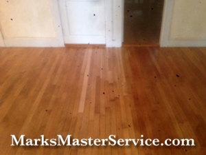 Mark's Master Service refinished hardwood floor in Billerica