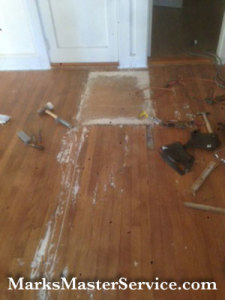 Wood floor patching in Billerica, MA by Mark's Master Service