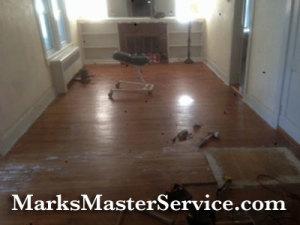 Fixing hardwood floor in Billerica, MA by Mark's Master Service