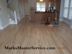 Restored hardwood floor without sanding in Winchester, MA
